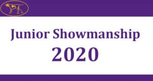 Junior Showmanship 2020