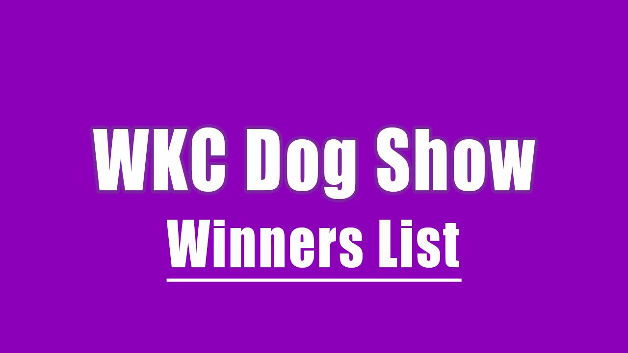westminster dog show full winners list